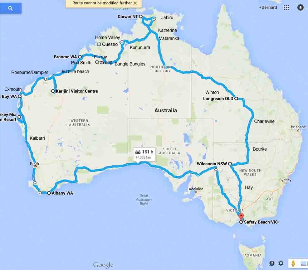 The Big Trip: Western Australia advise
