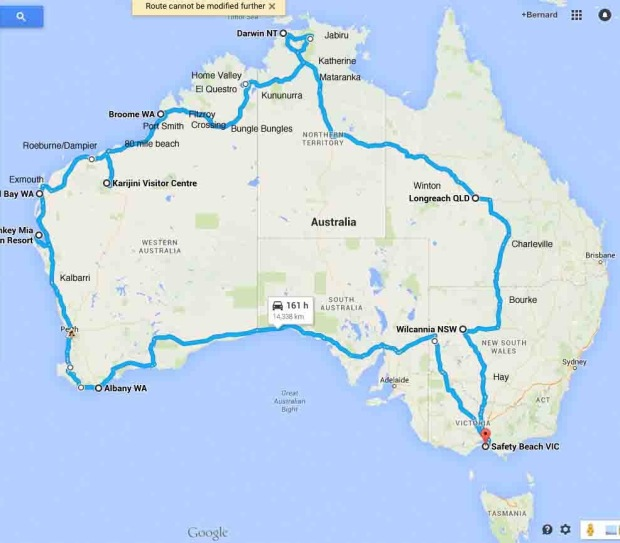 our trip mapped
