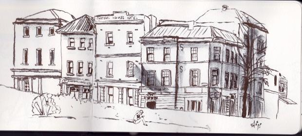 urban sketch bernard hornblower. Black Bedroom Furniture Sets. Home Design Ideas